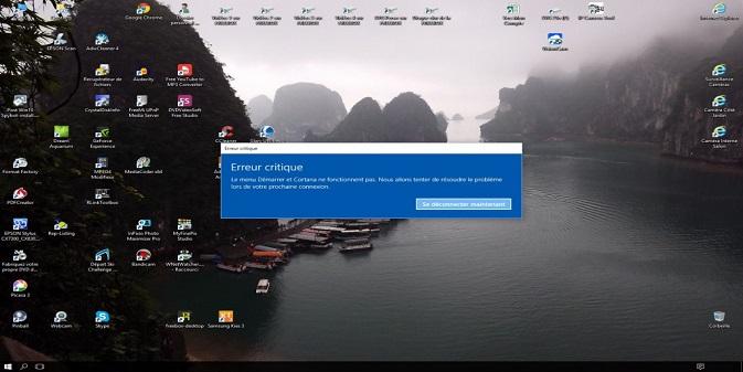 les causes des Messages d'erreurs au démarrage de Windows ?