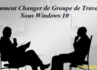 groupe de travail Windows 10