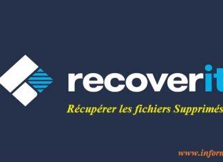 les fichiers supprimés avec recoverit