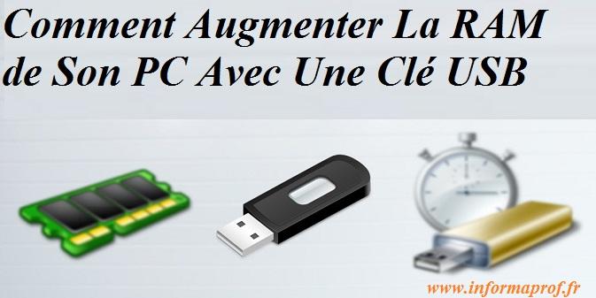 Comment Augmenter la RAM d'un PC Avec Une clé USB ?