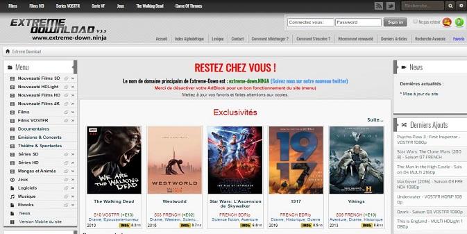Extreme Download pour télécharger des Films Gratuitement