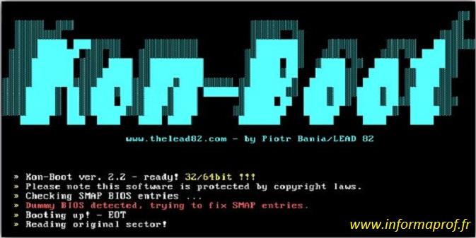 Installer Kon Boot dans un clé usb