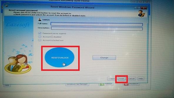 réinitialiser un mot de passe Windows avec lazesoft recovery