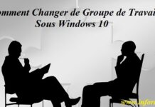 groupe de travail Windows 10