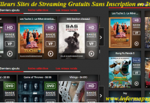 streaming gratuits sans inscription