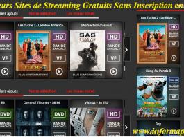 streaming gratuits sans inscription