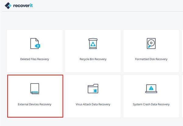 récupérer les fichiers supprimés avec recoverit