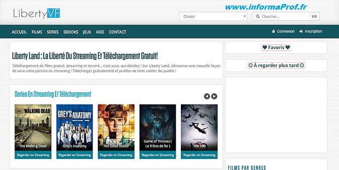 Liberty VF - Le site pour télécharger et regarder des films en Streaming